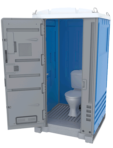 Alltoilets (WA) Merlin Ultra Sewer Connect Portable Toilet Open Door