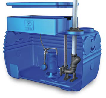 Blue BOX Grinder Waste Transfer Station